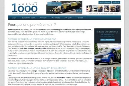 Rédacteur Web pour 1000motors